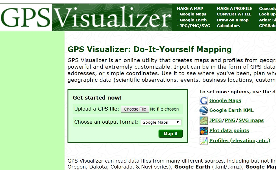 various: how to convert a map – online