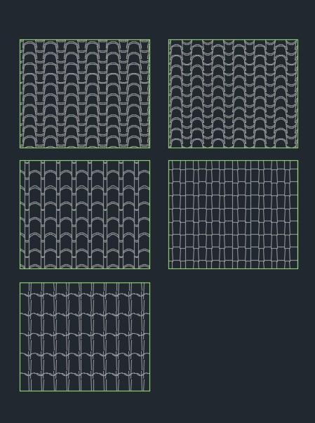 Roof Tile Hatch Pattern Autocad - Tile Design Ideas