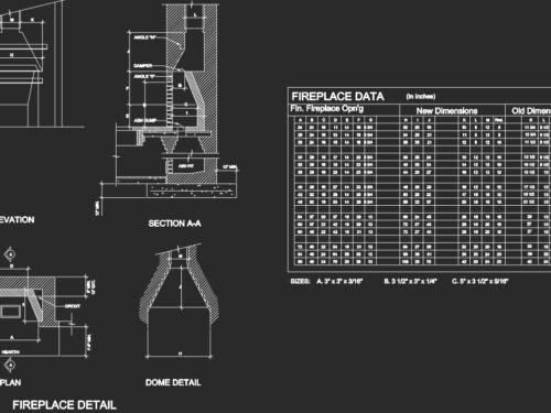 details of fireplaces / dettagli di camini