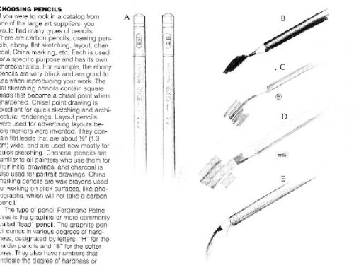 manuals: techniques for hand drawing